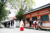 挙式には参列されないご友人が神社に見学に来られる場合